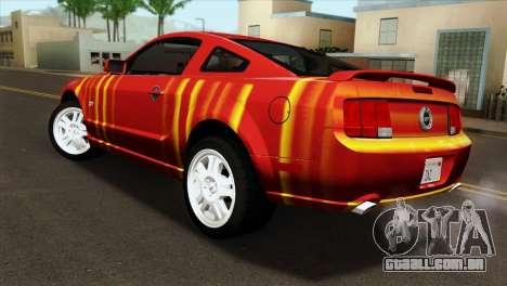 Ford Mustang GT PJ para GTA San Andreas esquerda vista