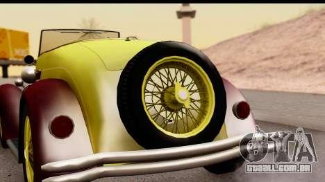 Ford A 1928 para GTA San Andreas vista direita