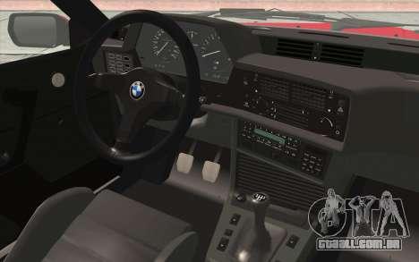 BMW M635CSI E24 1986 V1.0 para GTA San Andreas vista traseira