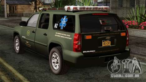 Chevrolet Suburban National Guard MedEvac para GTA San Andreas esquerda vista