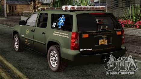 Chevrolet Suburban National Guard MedEvac para GTA San Andreas esquerda vista