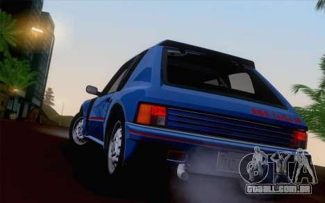 Peugeot 205 Turbo 16 1984 [HQLM] para vista lateral GTA San Andreas
