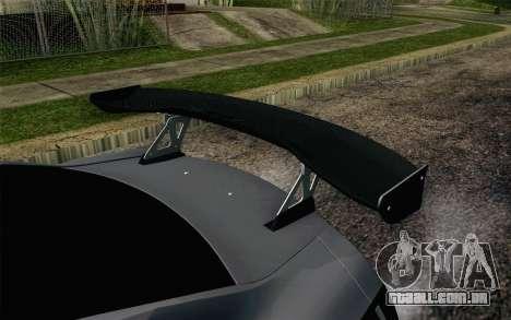 Nissan GT-R 2014 RocketBunny para GTA San Andreas vista traseira