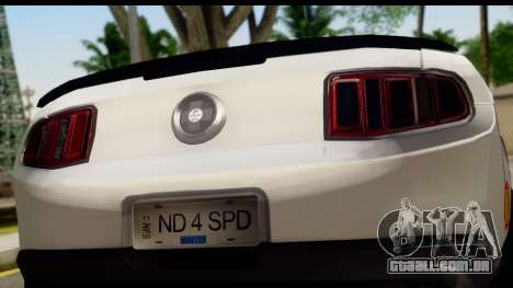 Ford Mustang 2010 Cobra Jet para GTA San Andreas vista direita