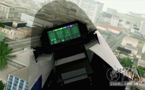 CFA-44 Butterfly Master para GTA San Andreas vista traseira