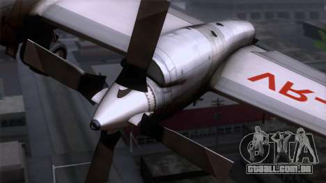 L-188 Electra Cathay P para GTA San Andreas vista traseira