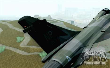 Dassault Mirage 2000 ISAF para GTA San Andreas traseira esquerda vista