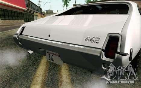 Oldsmobile 442 Férias Coupé 1969 FIV АПП para GTA San Andreas vista traseira