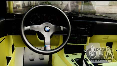 BMW M635 E24 CSi 1984 para GTA San Andreas vista interior