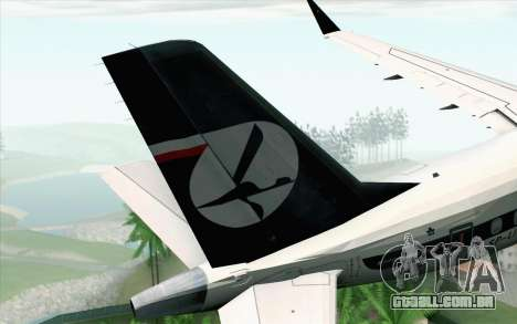 Embraer EMB-175 LOT Polish Airlines 600th E-Jet para GTA San Andreas traseira esquerda vista
