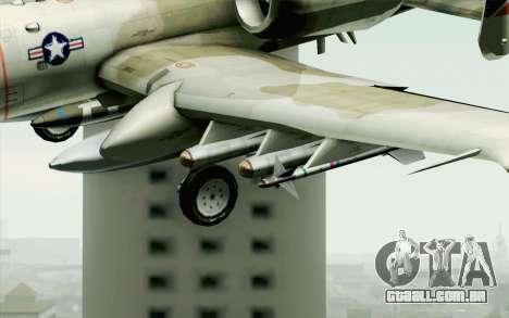 A-10 Desert Camo para GTA San Andreas vista traseira