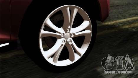 Nissan Murano 2008 para GTA San Andreas traseira esquerda vista