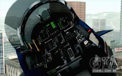 F-18D RAAF 20th Anniversary para GTA San Andreas vista traseira