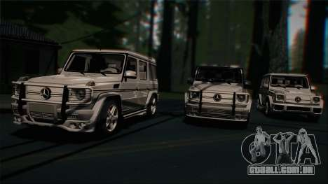 Mercedes-Benz G65 2013 Hamann Body para GTA San Andreas vista superior