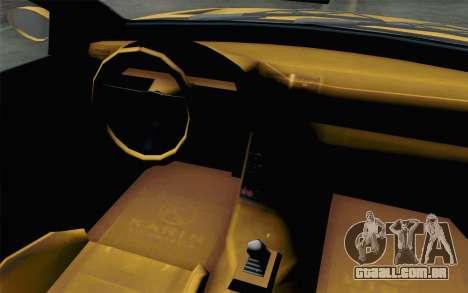 GTA 5 Ubermacht Sentinel Coupe para GTA San Andreas vista traseira