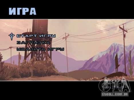 Menu HD para GTA San Andreas terceira tela
