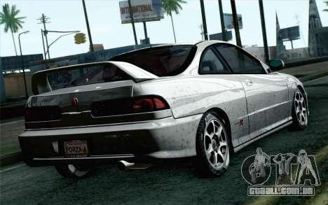 Acura Integra Type R 2001 Stock para GTA San Andreas esquerda vista