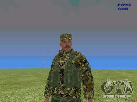 Soldado do batalhão para a Somália para GTA San Andreas
