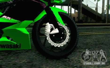 Kawasaki Ninja 250RR Mono Green para GTA San Andreas traseira esquerda vista
