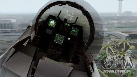 F-16C Block 52 PJ para GTA San Andreas vista traseira