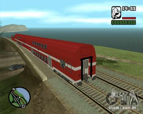 Israeli Train Double Deck Coach para GTA San Andreas