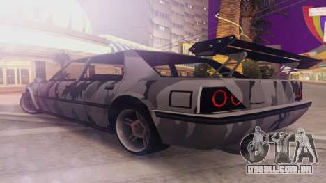Vincent 3.0 para GTA San Andreas traseira esquerda vista