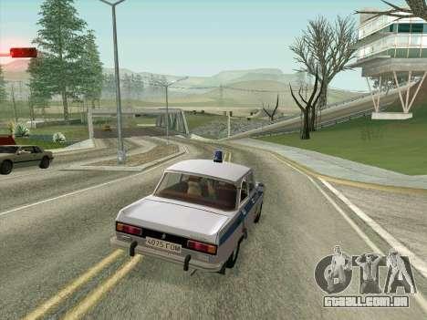 Moskvich 2140 Polícia para GTA San Andreas vista superior