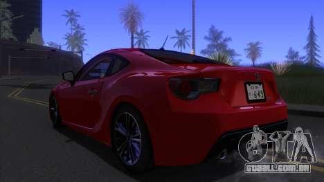 Scion FR-S 2013 Stock v2.0 para GTA San Andreas esquerda vista