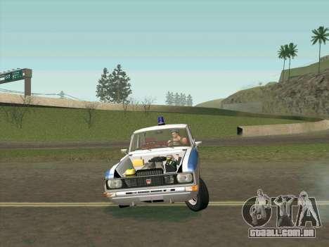 Moskvich 2140 Polícia para GTA San Andreas interior