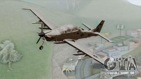 Embraer A-29B Super Tucano Navy White para GTA San Andreas