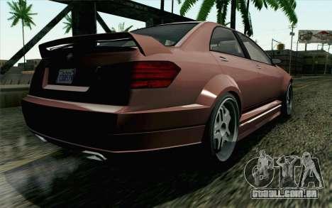 GTA 5 Benefactor Schafter SA Mobile para GTA San Andreas esquerda vista