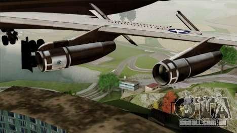 Boeing VC-137 para GTA San Andreas vista direita