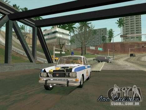 Moskvich 2140 Polícia para GTA San Andreas vista inferior
