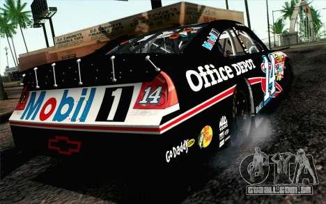 NASCAR Chevrolet Impala 2012 Plate Track para GTA San Andreas esquerda vista