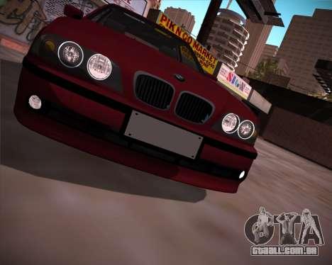 BMW 5-series E39 Vossen para GTA San Andreas vista direita