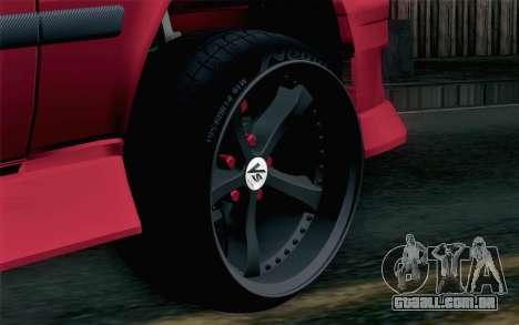 Toyota Chaser para GTA San Andreas traseira esquerda vista