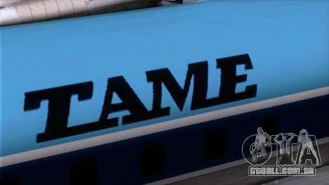 L-188 Electra TAME para GTA San Andreas vista traseira