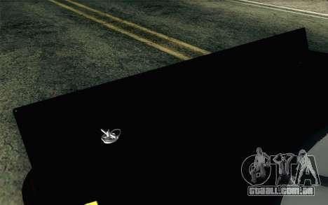 NASCAR Toyota Camry 2012 Short Track para GTA San Andreas vista traseira
