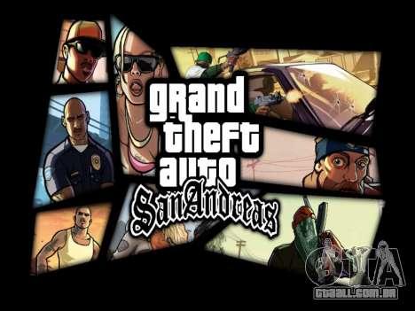 Menu HD para GTA San Andreas