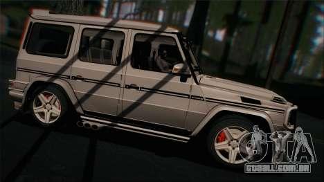 Mercedes-Benz G65 2013 Hamann Body para GTA San Andreas vista direita