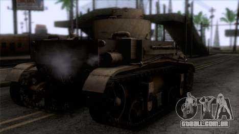 M2 Light Tank para GTA San Andreas esquerda vista