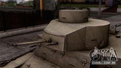 M2 Light Tank para GTA San Andreas traseira esquerda vista