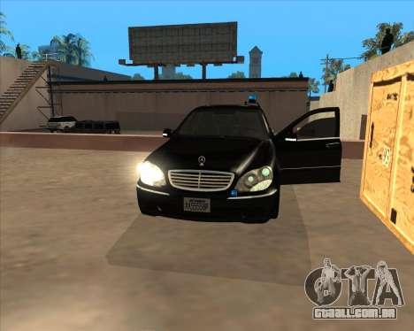 Luzes estroboscópicas v3 para GTA San Andreas