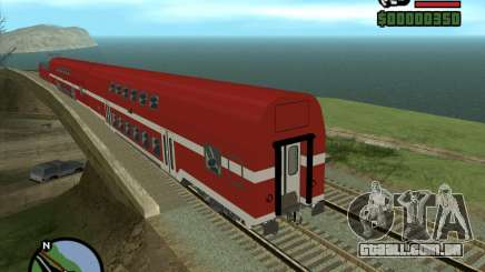 Israeli Train Double Deck Coach para GTA San Andreas