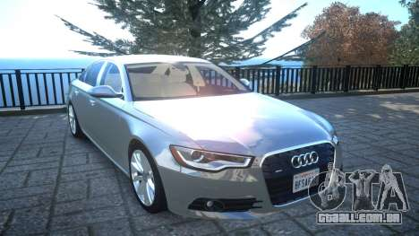 Audi A6 2012 v1.0 para GTA 4 vista interior