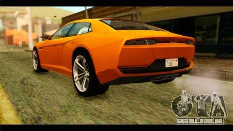 Lamborghini Estoque para GTA San Andreas esquerda vista