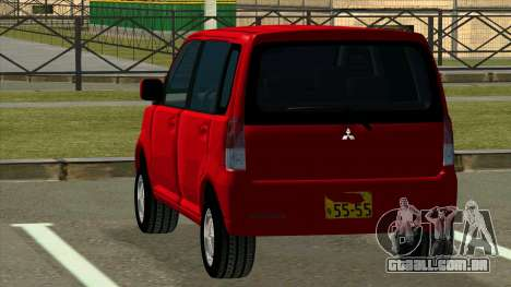 Mitsubishi eK Wagon para GTA San Andreas traseira esquerda vista