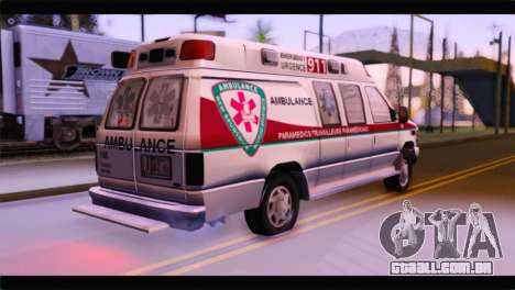 Ford E-350 Ambulance New Brunswick para GTA San Andreas esquerda vista