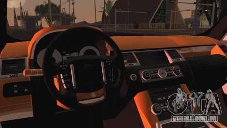 Range Rover Sport 2012 Samurai Design para GTA San Andreas traseira esquerda vista