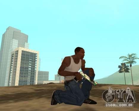 Green Pack Asiimov CS:GO para GTA San Andreas oitavo tela